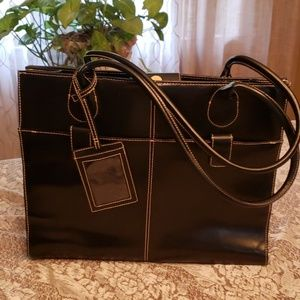 Wilson Leather Business Tote NWOT Black